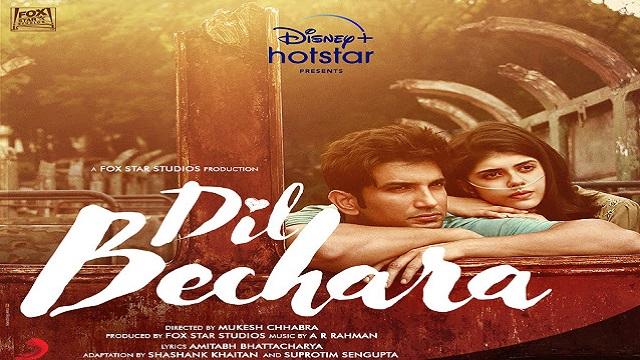 dil bechara title track sushant singh rajput